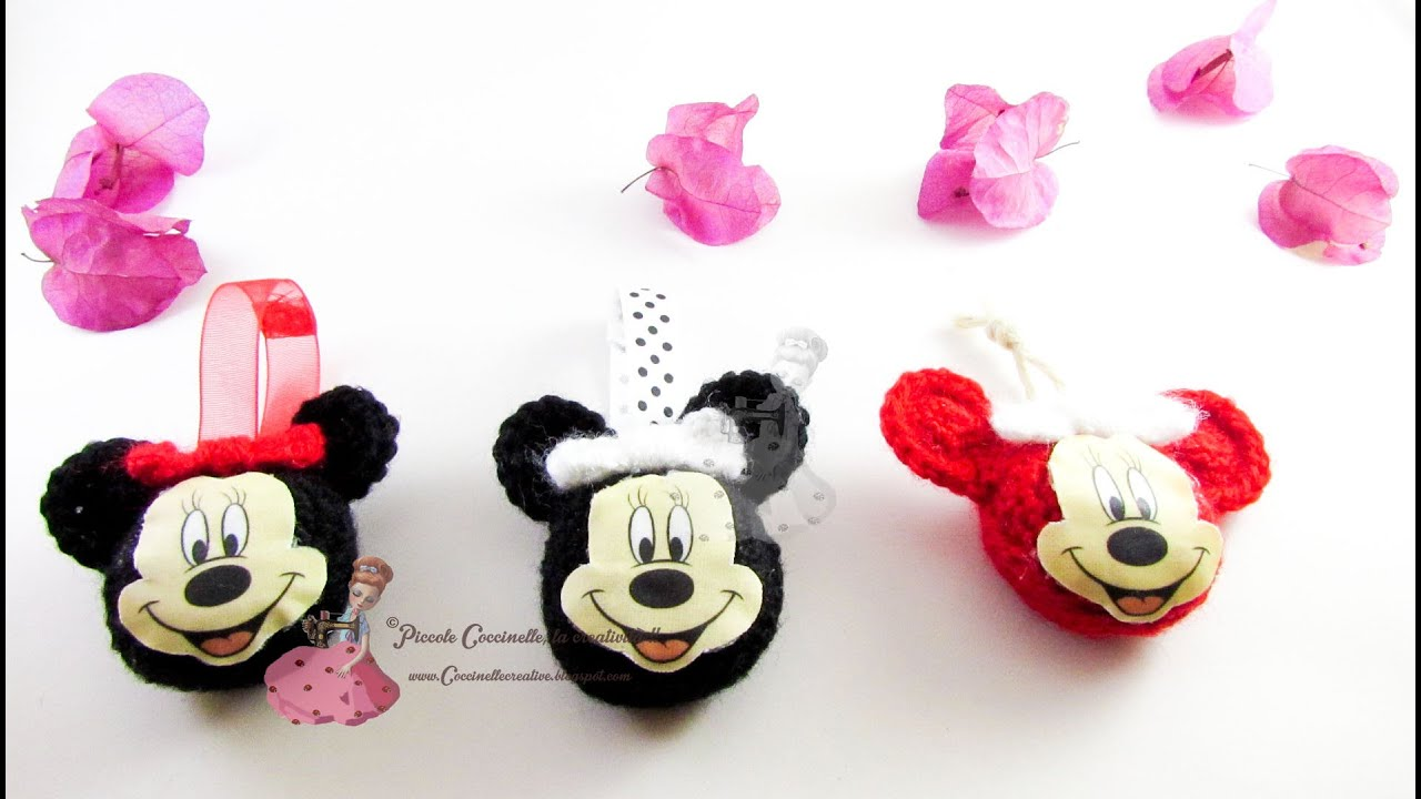 Ciondoli portachiavi Minnie mouse uncinetto.