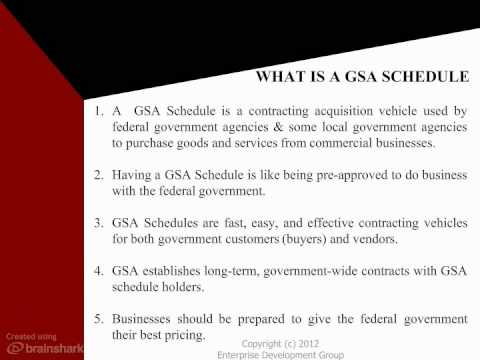 FREE Get On GSA Schedule Training Course