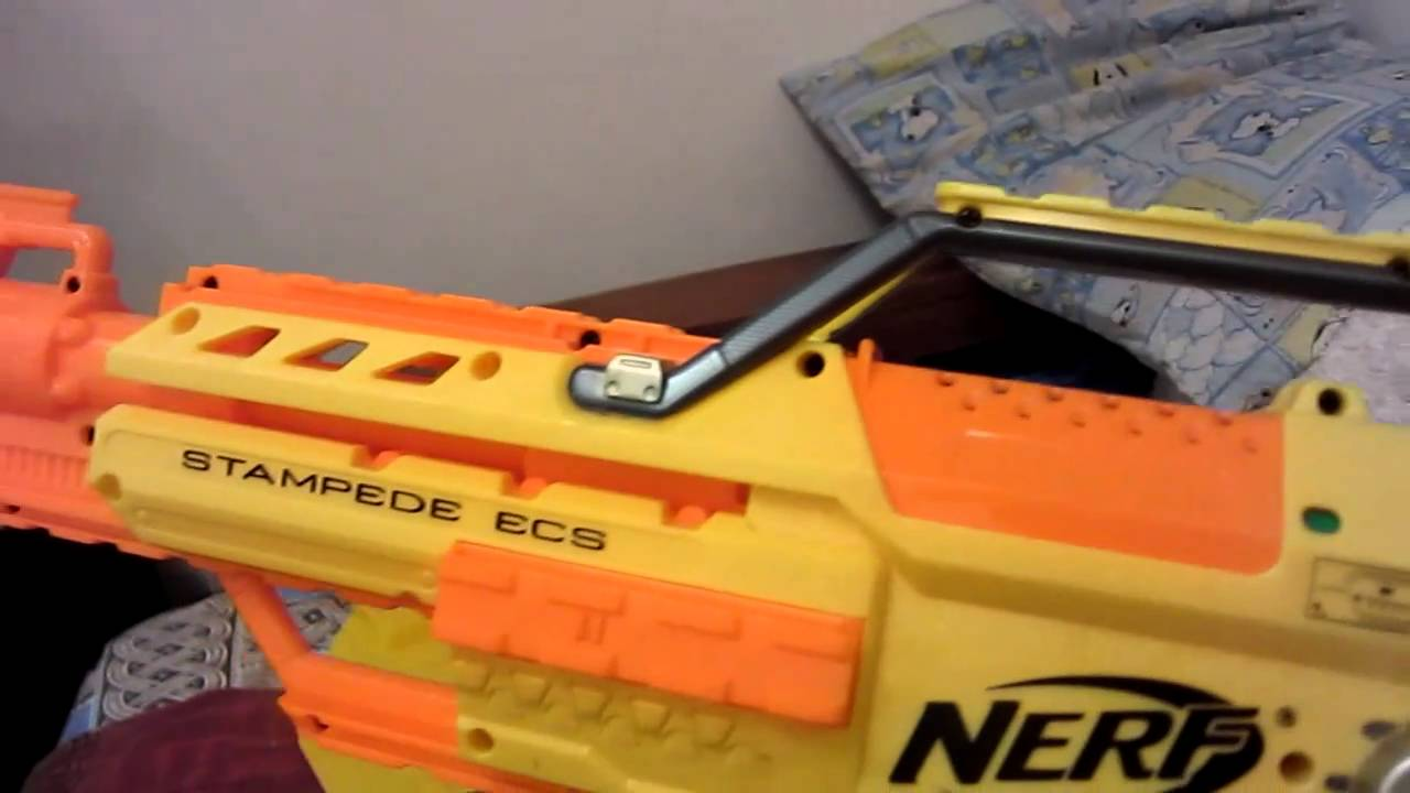 Nerf Stampede Ecs 50 Toy Gun Unboxing Review Hd Youtube