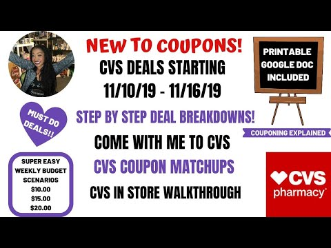 VERY EASY NEW TO COUPONS CVS DEALS STARTING 11/10/19~COUPON MATCHUPS DEAL BREAKDOWNS COME WITH ME ❤️