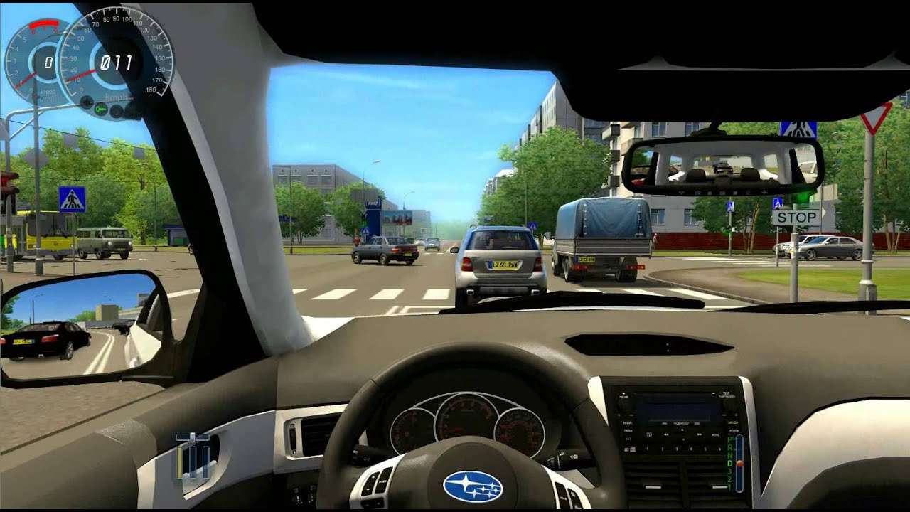 City Car Driving 1.2.5 Subaru Forester XT Logitech G27 - YouTube