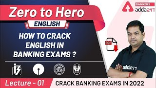 How to Crack English Section in Banking Exams 2021   Adda247 Banking Classes   Lec-1