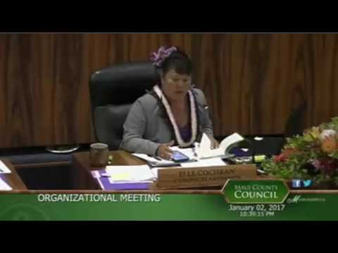 Maui County Council Org Meeting Mayor Bullshit