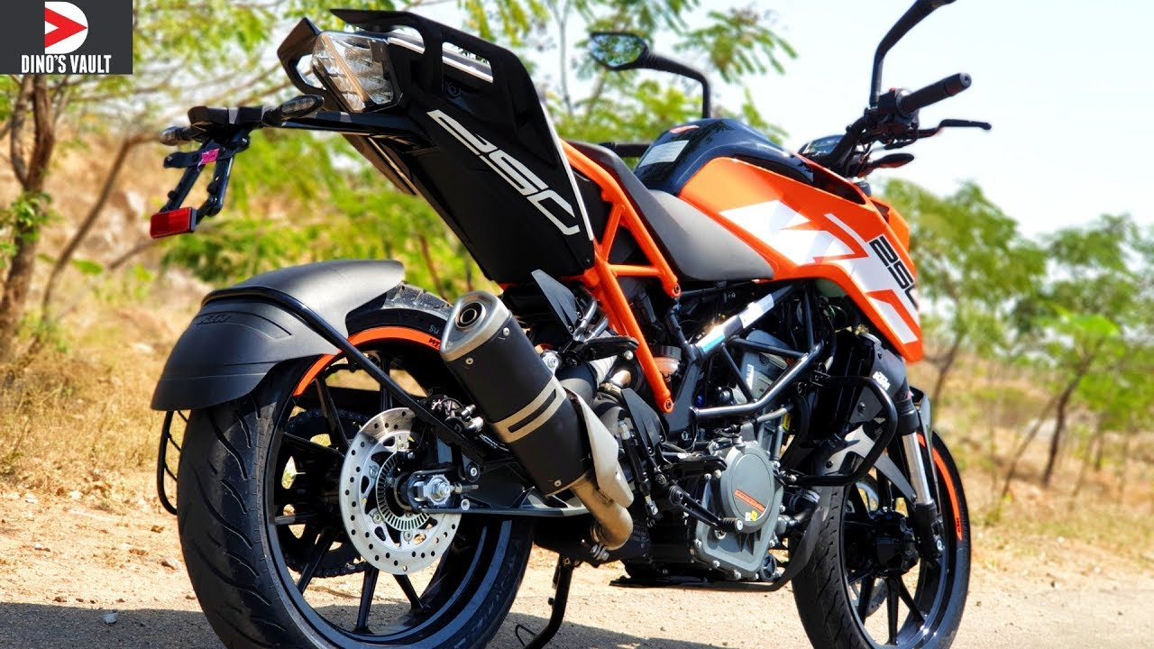 2019 KTM Duke 250 ABS First Ride Review Braking Test # ...