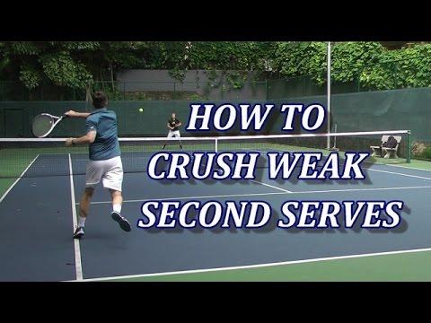 How To Aggressively Return Weak Tennis Serves