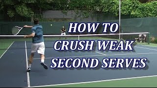 How To Aggressively Return Weak Tennis Serves