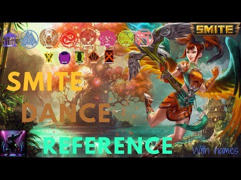 All Smite Dance Reference | Before Patch 4.22 (with names)