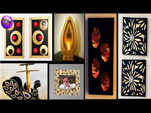 6 Diy crafts | diy room decor  |  waste material crafts | Fashion pixies| diy from Waste material