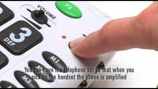 Big Button Amplified Telephone with Volume & Tone Control: CL100