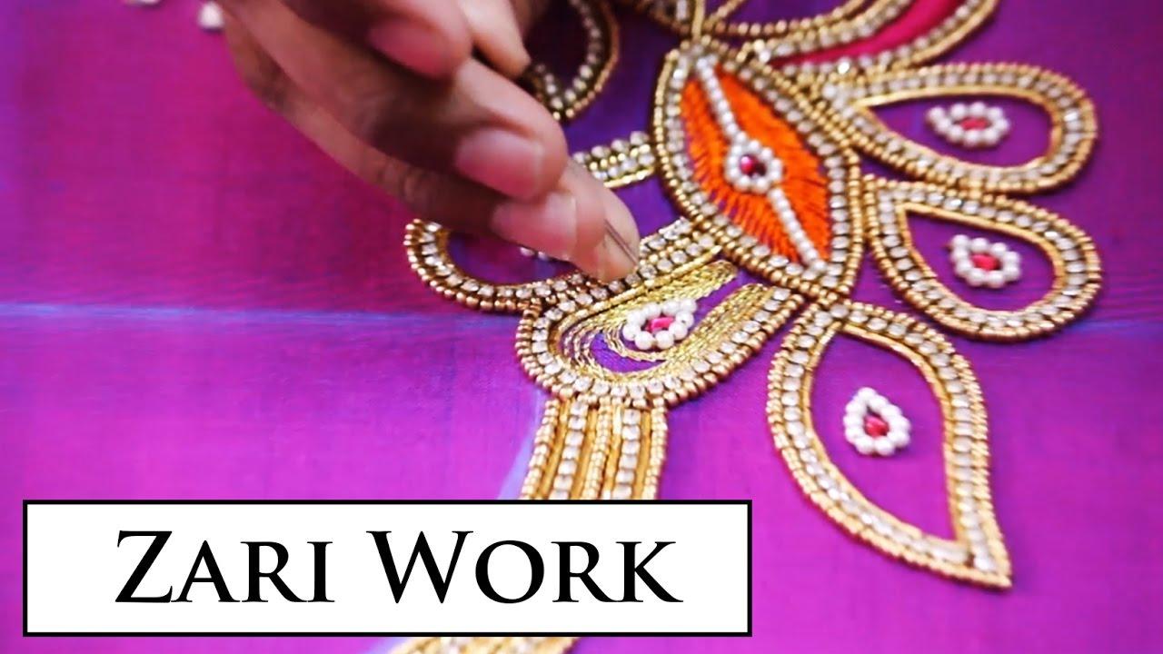 Zari Work Blouse Designs 78