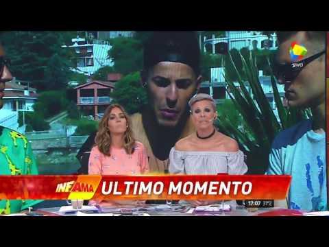 El novio de Charlotte Caniggia irrumpió furioso en un móvil de Infama