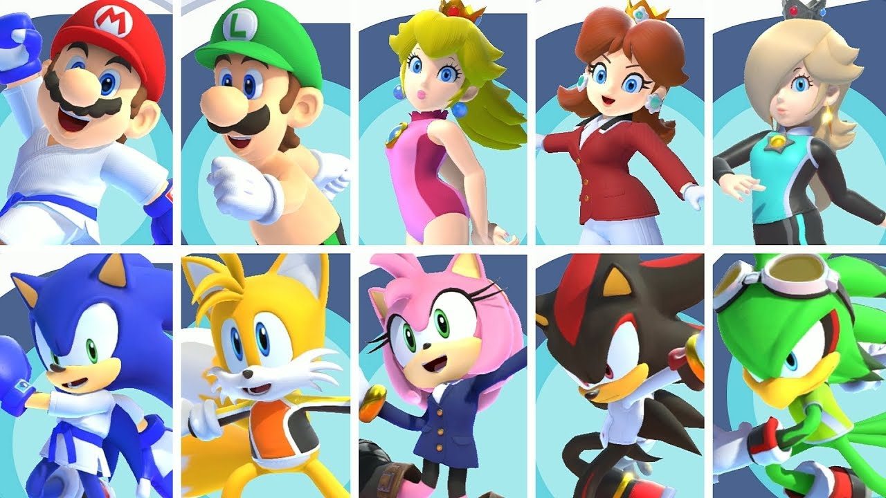 Mario & Sonic at the Olympic Games Tokyo 2020 - All Characters & Costumes