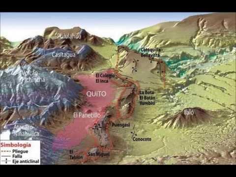 Mapa De La Falla Geologica De Quito 13 Agosto 2013 Youtube