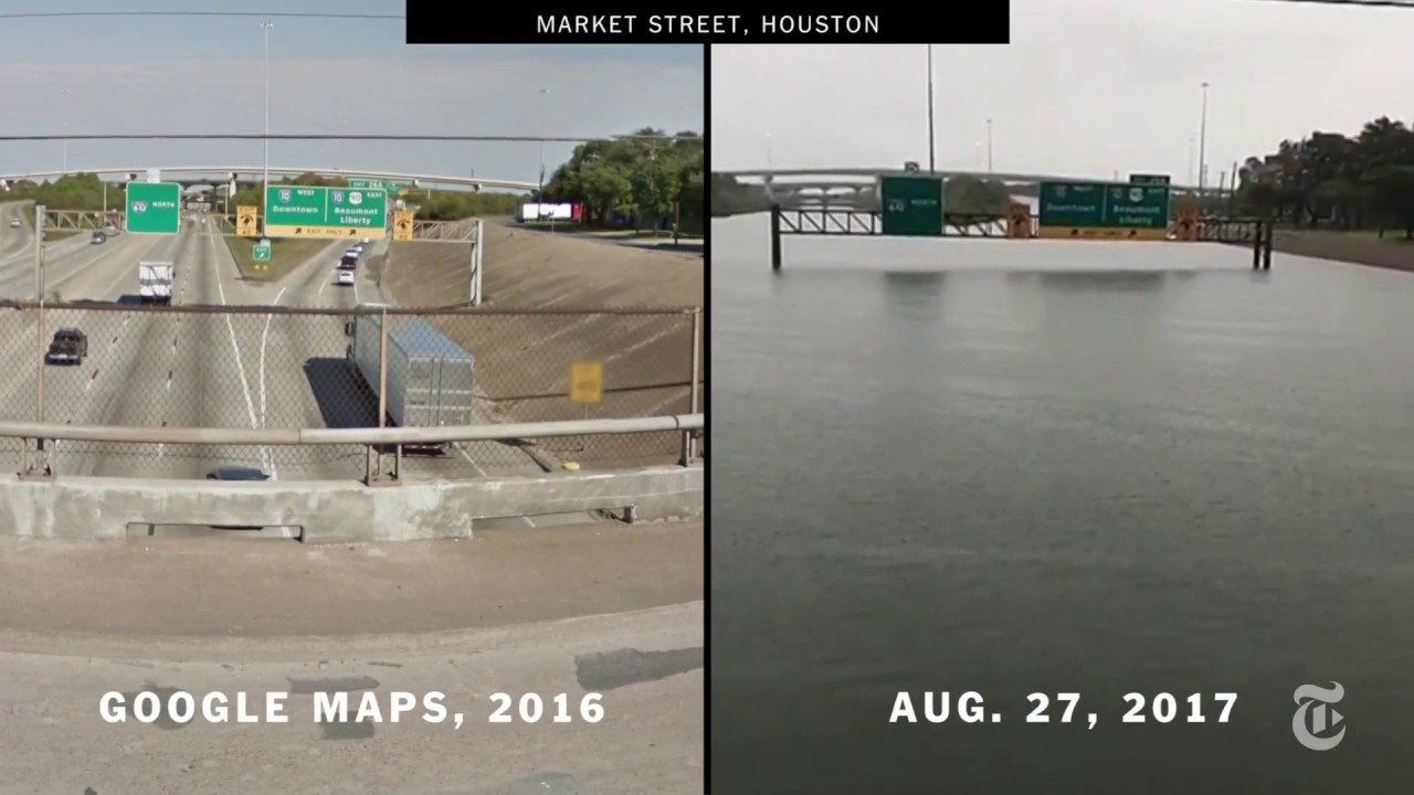 Houston Before and After Harvey Houston Before