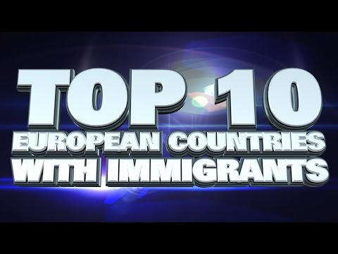 10 European countries with the most immigrants 2014