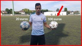 BALLON A 100 EUROS VS BALLON A 20 EUROS ! CRASH TEST