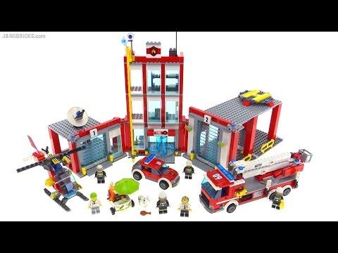 LEGO City 2016 Fire Station review! set 60110