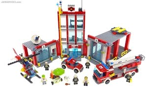 LEGO City 2016 Fire Station review! set 60110