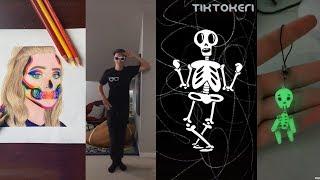 TIKTOK TREND  Spooky Scary Skeletons  SPOOKY SEASON IS OPEN