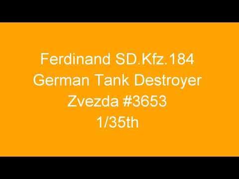Ferdinand SD.Kfz.182 German Tank Destroyer - Zvezda - #3653 - 1/35th - Inbox Review - Stills