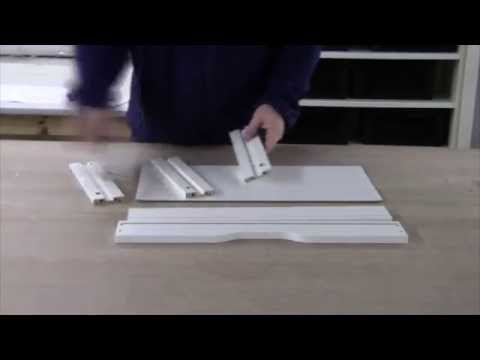 assembling the ikea ekby alex shelf with drawers youtube. Black Bedroom Furniture Sets. Home Design Ideas