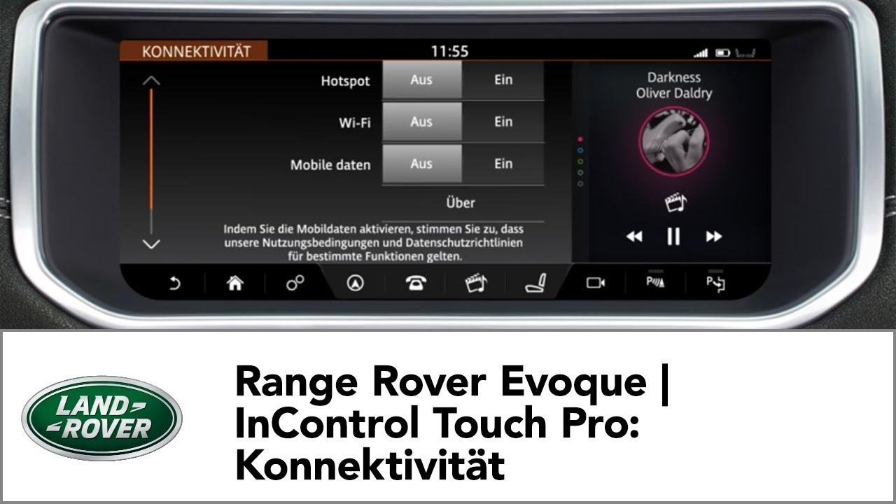 range rover evoque incontrol touch pro konnektivit t. Black Bedroom Furniture Sets. Home Design Ideas