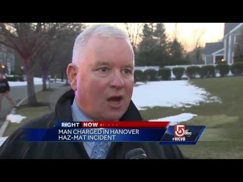 Man charged in Hanover hazmat scare