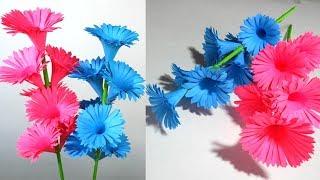 Cómo hacer Rosas o flores de papel / Ideas de artesanía de bricolaje para habitación
