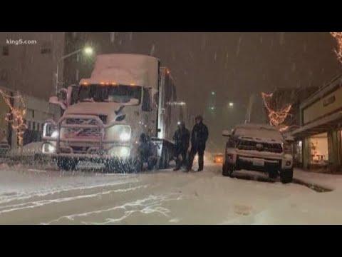 Port Angeles Buried Under Snow