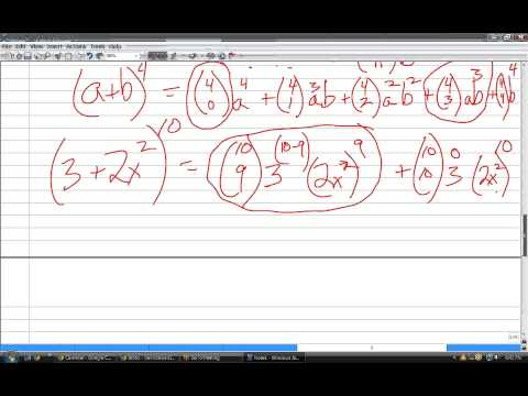 Online precalculus tutoring, binomial expansion, Pascal's triangle, combinations, SL102214