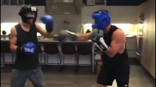 Why Don't We Daniel and Christian boxing!