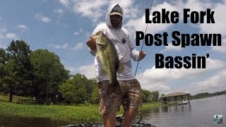 Lake Fork Post Spawn Bass Fishing: Good Times On The Goat Lake