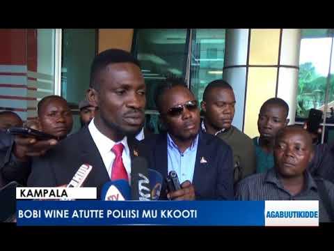 Bobi Wine atutte poliisi mu kkooti