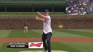 Pit@chc: Bears Qb Glennon Throws Out First Pitch