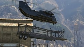 ボツ【GTA5】輸送ヘリで色々持ち上げようとしたら.......!! thumbnail