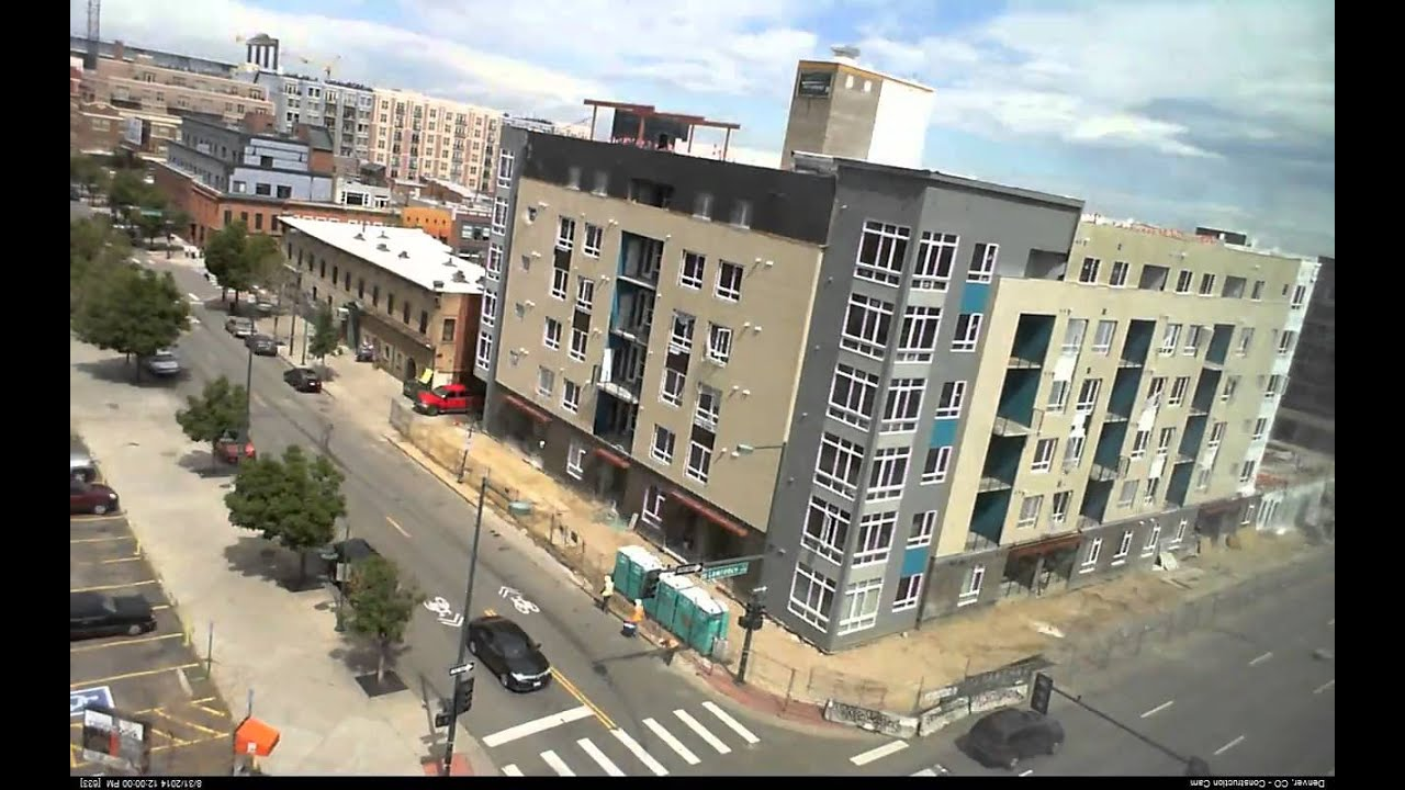 Construction of Denver Apartment building time lapse - 681 ...