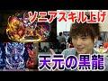 パズドラ【スキル上げ】赤ソニア&天元の黒龍(高速周回)