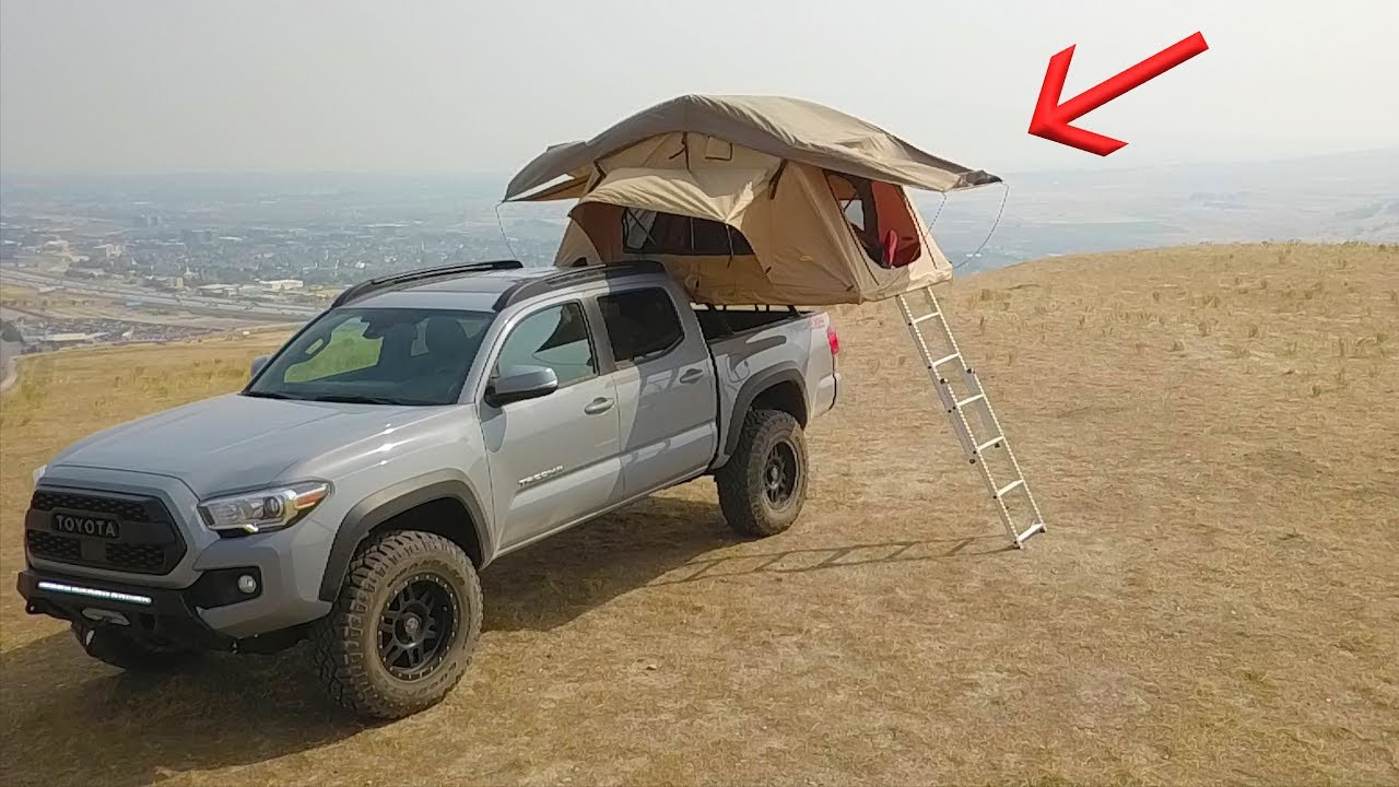 Installing A Rooftop Tent On My New Tacoma Youtube