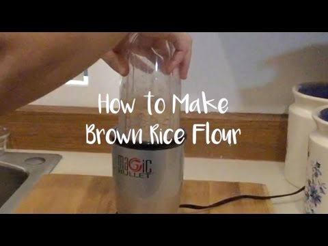 how-to-make-brown-rice-flour