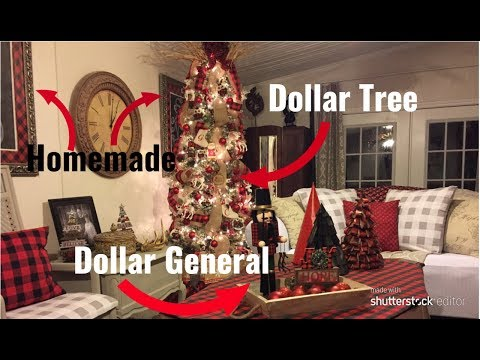 Decorating My Buffalo Plaid Christmas Tree ON A BUDGET!