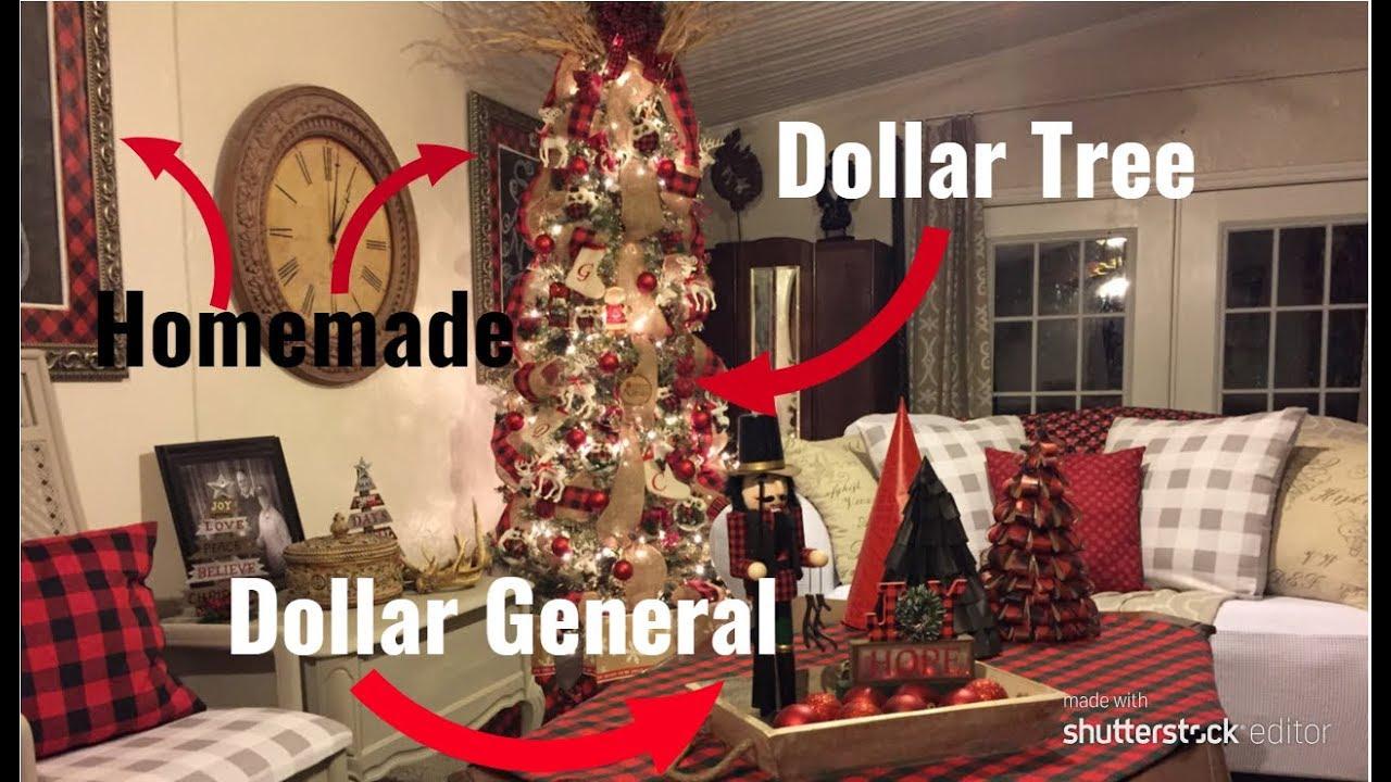 Decorating My Buffalo Plaid Christmas Tree On A Budget Youtube