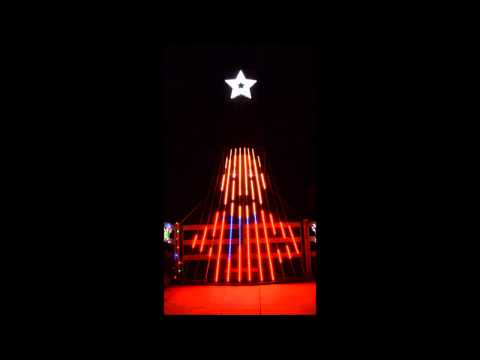 Musical Christmas light show to Sleigh Ride for 12 CCR tree