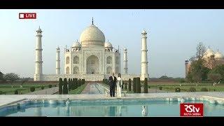 President Trump And First Lady Melania Trump Visit The Taj Mahal In Agra