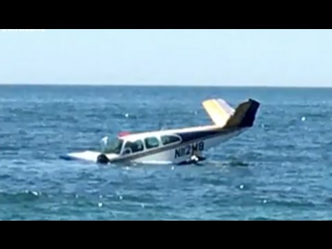 Plane Crashes Into Ocean | Pilot Saved by Beachgoers