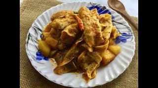 Paporer Dalna   Papad Potato Curry (Bengali Home Style)   Rajasthani Dish - In Bengali