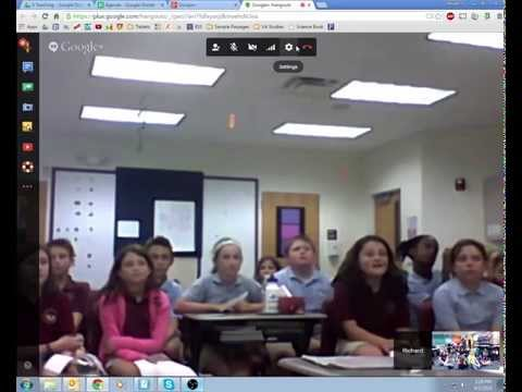 Google Hangout with Mr. H's Class