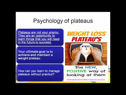Psychology of eating-plateaus