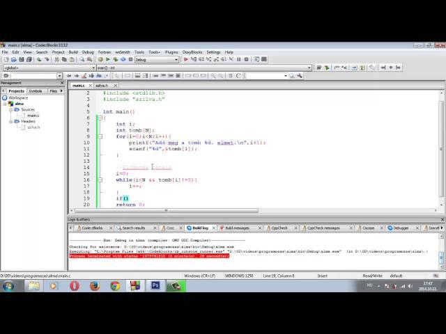 Programozási Tételek - Eldöntés