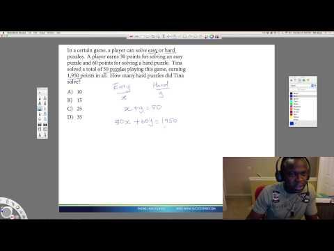 New PSAT 2016 Math : Simultaneous Eqn | Heart of Algebra