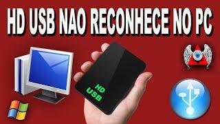 HD USB NAO RECONHECE NO PC